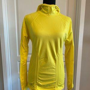 Athleta Bright Yellow light weight Hoodie, Size M